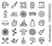 cycling equipment icons set.... | Shutterstock .eps vector #1330342202
