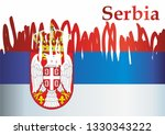 flag of serbia  republic of...   Shutterstock .eps vector #1330343222