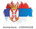flag of serbia  republic of... | Shutterstock .eps vector #1330343228