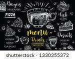 restaurant cafe menu  template... | Shutterstock .eps vector #1330355372
