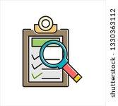 document checklist icon vector