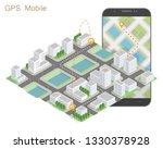 city map route navigation... | Shutterstock .eps vector #1330378928