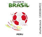 vector illustration of a soccer ... | Shutterstock .eps vector #1330384922