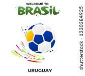 vector illustration of a soccer ... | Shutterstock .eps vector #1330384925