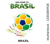 vector illustration of a soccer ... | Shutterstock .eps vector #1330384928