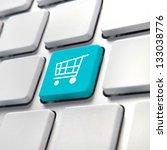 Shopping Cart Computer Key  On...