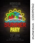 summer party shining neon... | Shutterstock .eps vector #1330390562