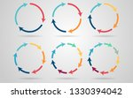 infographic circle arrows with... | Shutterstock . vector #1330394042