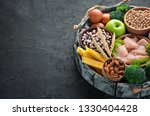 assortment of healthy protein... | Shutterstock . vector #1330404428