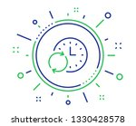 time line icon. update clock or ... | Shutterstock .eps vector #1330428578