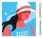 summer holidays concept. young...   Shutterstock .eps vector #1330443152