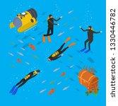 scuba diving underwater scenic... | Shutterstock .eps vector #1330446782