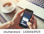 chatbot on website answering... | Shutterstock . vector #1330465925