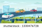 Modern City Highway Traffic...