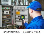 thermal imaging inspection of...   Shutterstock . vector #1330477415