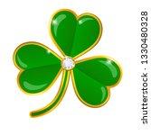vector shamrock badge with... | Shutterstock .eps vector #1330480328