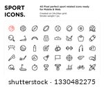 40 sport icons  pixel perfect ... | Shutterstock .eps vector #1330482275