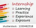 internship and colored pencils... | Shutterstock . vector #1330482518