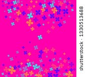 multicolor clovers on pink...