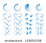 transparent progress indicators ... | Shutterstock .eps vector #133053158