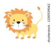 funny kids print with lion... | Shutterstock .eps vector #1330539062