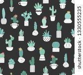 seamless pattern of hand drawn... | Shutterstock .eps vector #1330555235
