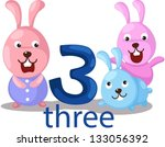 illustration of isolated number ... | Shutterstock .eps vector #133056392