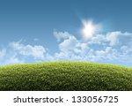 sunny natural summer background ...   Shutterstock . vector #133056725