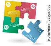 one two three   vector progress ... | Shutterstock .eps vector #133057772