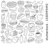 fast food restaurant menu clip... | Shutterstock .eps vector #1330595492
