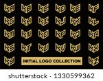 initial logo collection set... | Shutterstock .eps vector #1330599362
