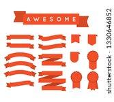 red ribbon set | Shutterstock .eps vector #1330646852