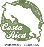 vintage costa rica central... | Shutterstock .eps vector #133067222