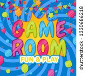 game room. color poster with... | Shutterstock .eps vector #1330686218