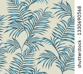 tropical composition blue tint... | Shutterstock .eps vector #1330690568