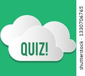 handwriting text quiz. concept... | Shutterstock . vector #1330706765
