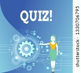 writing note showing quiz.... | Shutterstock . vector #1330706795