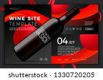 vector realistic 3d red wine... | Shutterstock .eps vector #1330720205