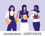 beautiful interracial girls... | Shutterstock .eps vector #1330724195