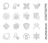 gdpr data privacy vector icons... | Shutterstock .eps vector #1330730795