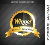 shiny golden vector winner... | Shutterstock .eps vector #133075235