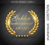 golden award label design...   Shutterstock .eps vector #133075256