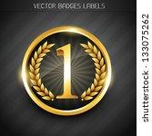 winner emblem golden no. 1... | Shutterstock .eps vector #133075262