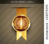 vector luxury no. 1 label design