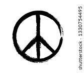 grunge texture hippie round... | Shutterstock .eps vector #1330754495