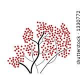 red berry tree vector | Shutterstock .eps vector #1330772