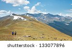 trail running in the rocky... | Shutterstock . vector #133077896