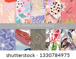 collection of seamless patterns.... | Shutterstock .eps vector #1330784975