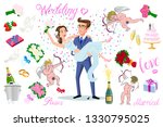 set of characters bride and... | Shutterstock .eps vector #1330795025