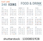 big collection of linear icons. ... | Shutterstock .eps vector #1330801928
